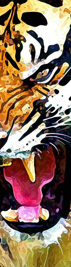 Tiger Effect Panel Two Of Three Digital Art