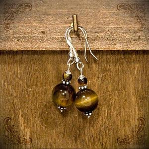 Sterling Silver Jewelry - Tiger Eye by Katarzyna Horwat
