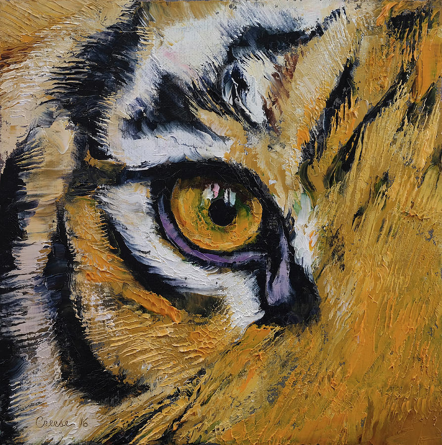 Tiger Eye Painting by Michael Creese