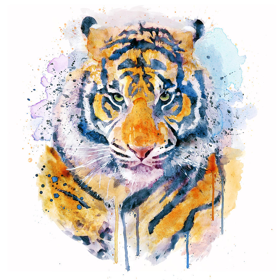 Tiger Painting - Tiger Face by Marian Voicu