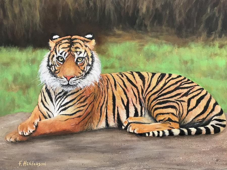 Tiger Painting - Tiger by Francine Henderson