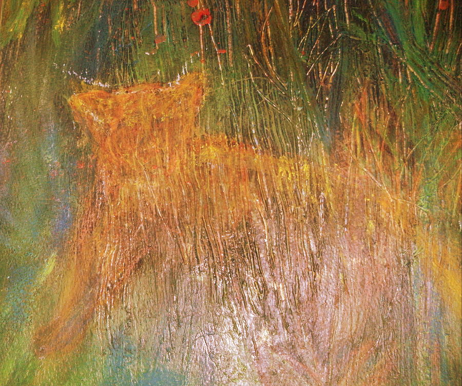 Tiger Painting - Tiger Hiding by Anne-Elizabeth Whiteway
