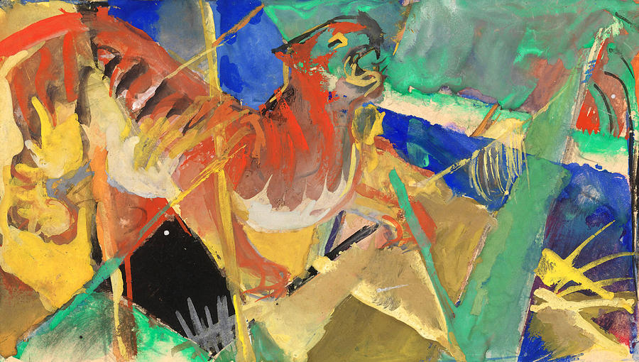 Tiger Painting - Tiger In The Jungle By Franz Marc Red And Yellow Tiger On The Prowl by Franz Marc