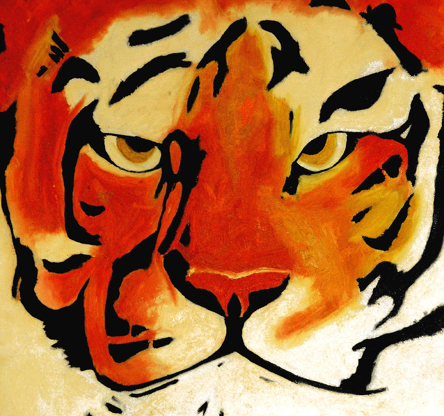 Tiger Painting - Tiger by Turtle Caps