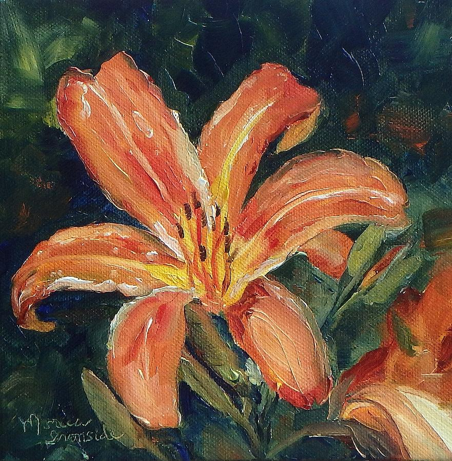 Original Painting - Tiger Lily by Monica Ironside