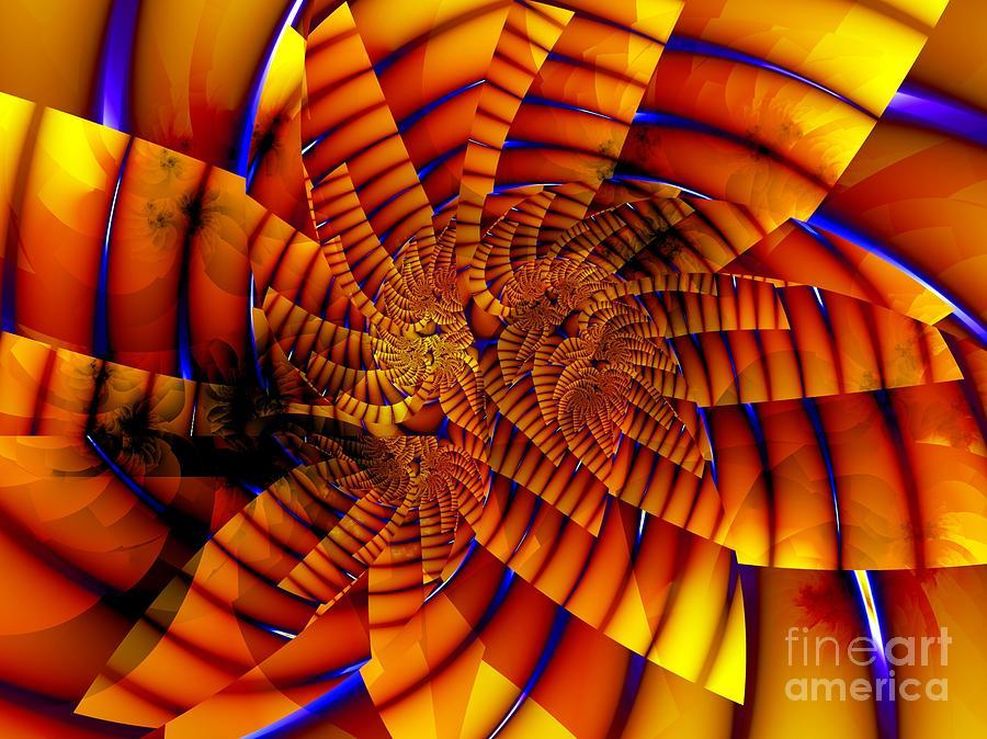 Flower Digital Art - Tiger Lily by Ron Bissett