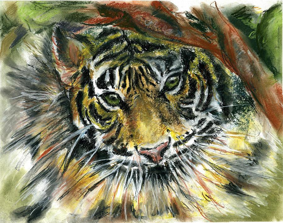Tiger Painting - Tiger by Marilyn Barton