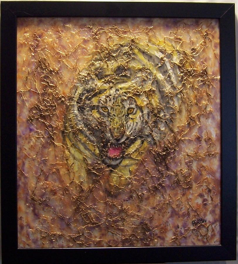 Louisiana Mixed Media - Tiger Roar 1 by Anneliese Fritts