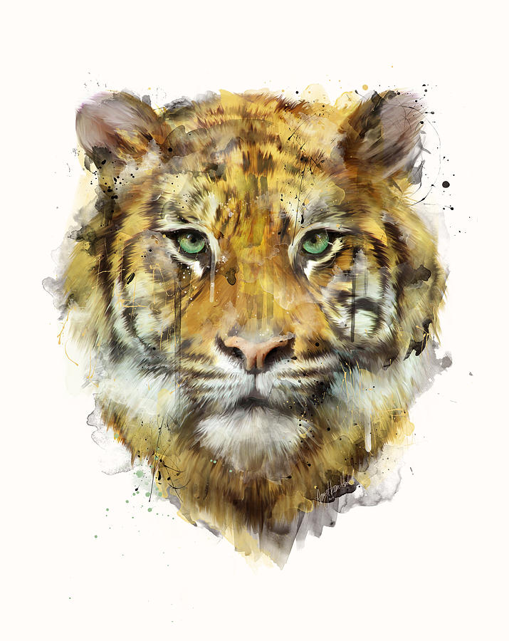 Tiger Painting - Tiger // Strength by Amy Hamilton