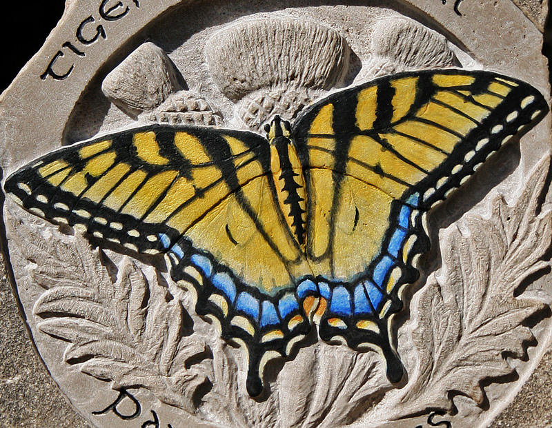 Limestone Sculpture - Tiger Swallowtail by Ken Hall