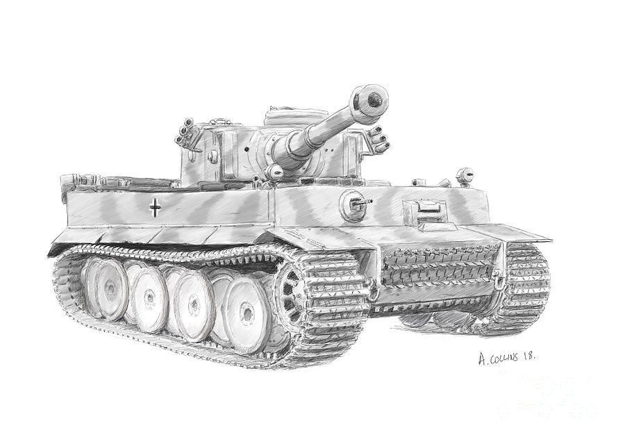 картинки танк тигр карандашом диско-бар краснодаре время