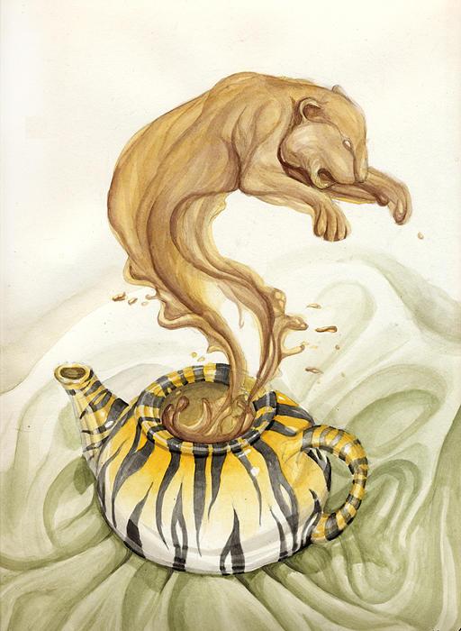 Tiger Tea Painting by Hannah Kincannon