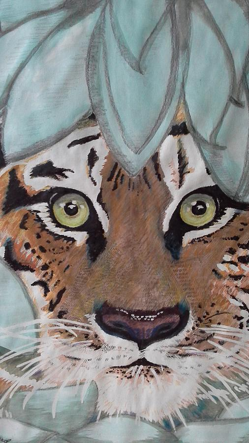 Tiger Tiger Painting - Happys 2015 Tiger Tiger by Happy Byrd