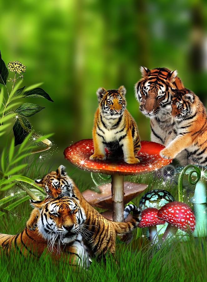 Tiger Photograph - Tiger Toadstools by Julie L Hoddinott