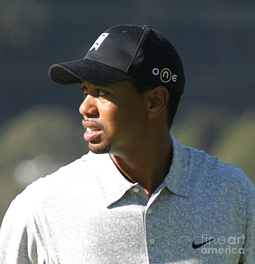 Tiger Photograph - Tiger Woods by Chuck Kuhn