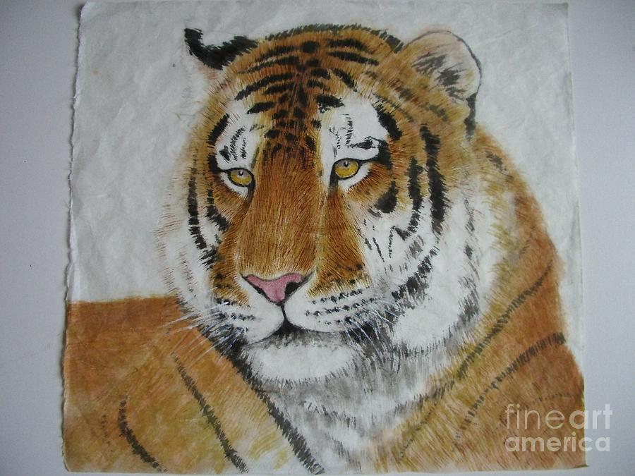 Tiger Painting - Tiger1 by Jian Hua Li