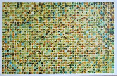 Tigereye Grid Painting by Ben Mitchell