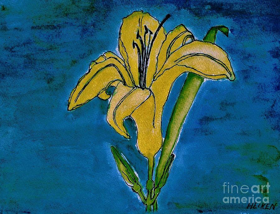 Tigerlily Painting - Tigerlily Yellow by Marsha Heiken