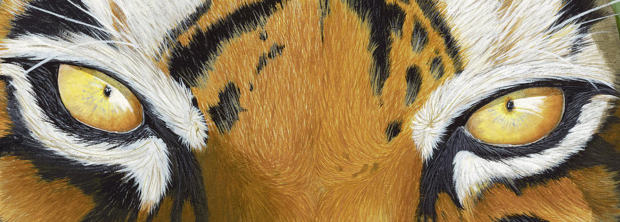 Tigers Eye Painting - Tigers Eye by Laurie Bath