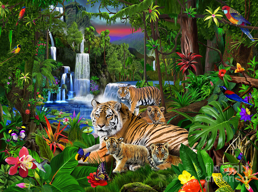 Tigers Of The Forest Digital Art By Gerald Newton
