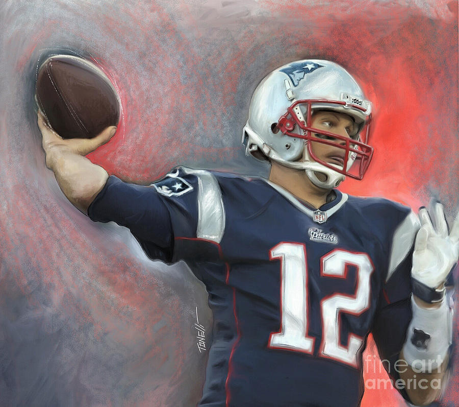 Tom Brady Tb12 Mixed Media