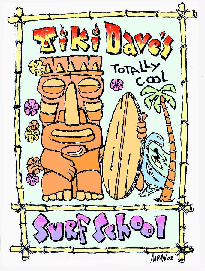 Tiki Digital Art - Tiki Daves by Aaron Bodtcher