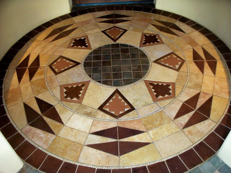 Tile Photograph - tileArt front foyer by Patrick Trotter
