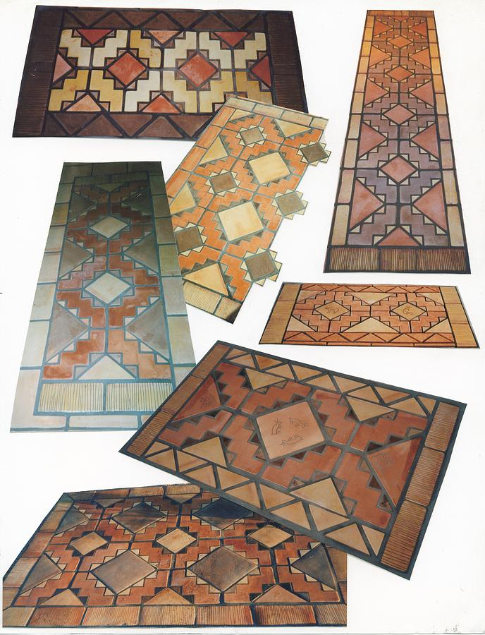 Tile Ceramic Art - Tiled Rug Kits by Patrick Trotter