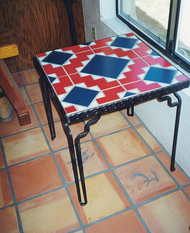 Tile Mixed Media   Tiled Table Top By Patrick Trotter