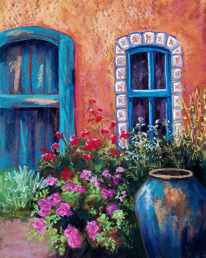 Landscape Pastel - Tiled Window by Candy Mayer