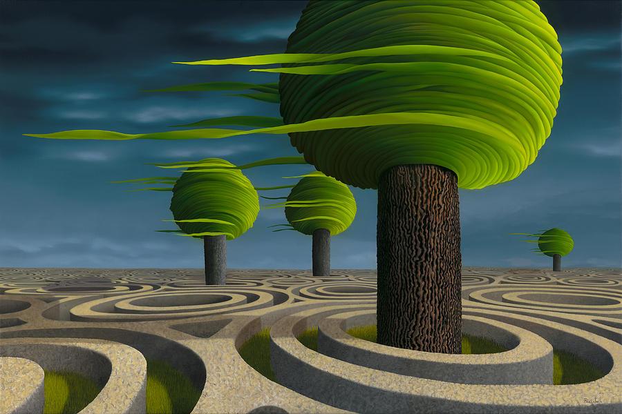 Tree Painting - Tilia Arbora by Patricia Van Lubeck