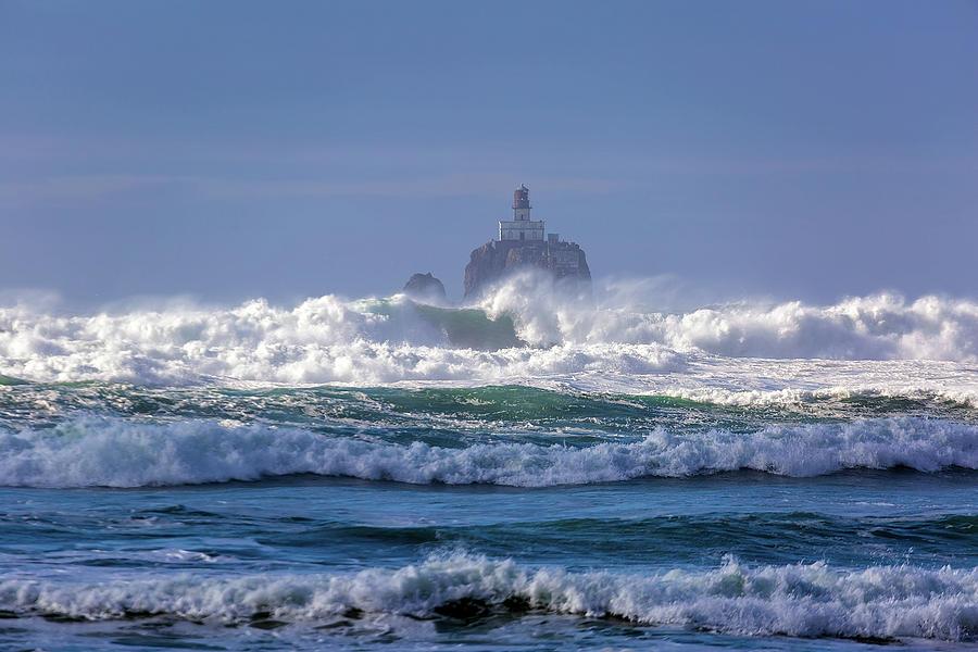 Lighthouse Photograph - Tillamook Rock Lighthouse by David Gn