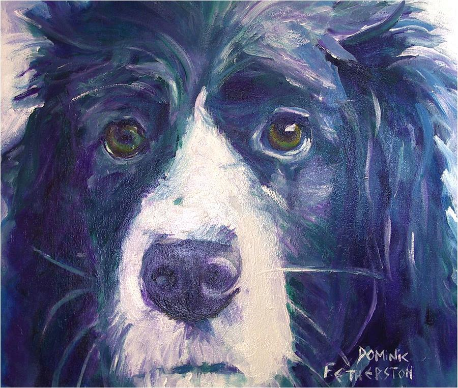 Dog Painting - Tilley by Dominic Fetherston