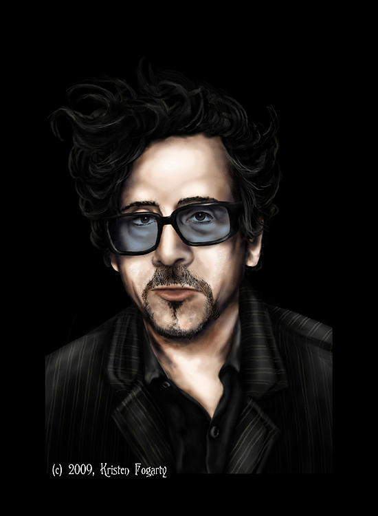 Tim Burton Digital Art - Tim Burton by Kristen Fogarty
