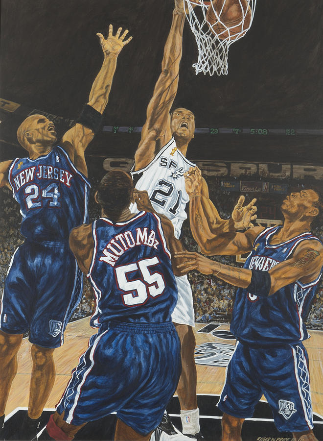 tim duncan painting by roger w price