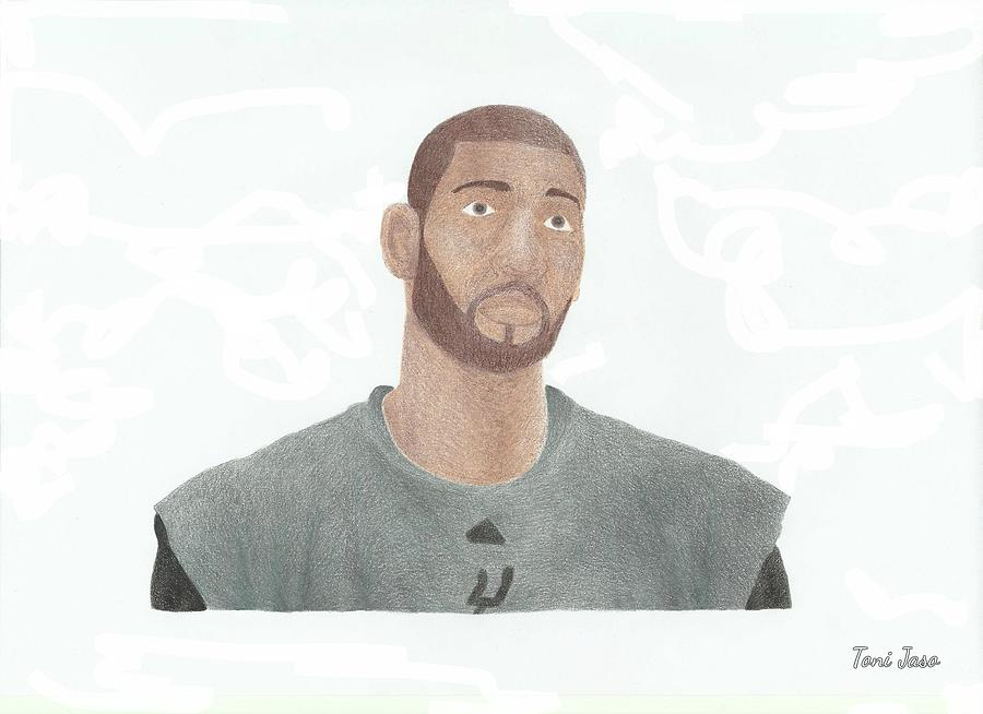 Basketball Drawing - Tim Duncan by Toni Jaso