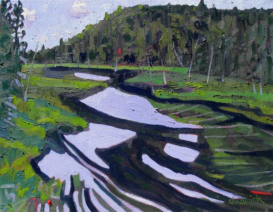 Tim Painting - Tim River - Algonquin by Phil Chadwick