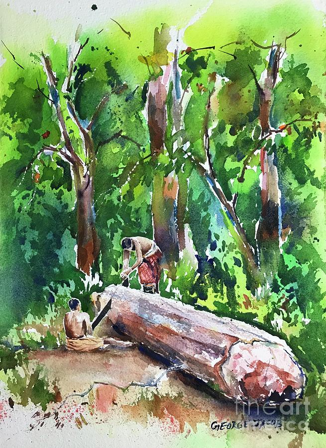 Timber cutting  by George Jacob