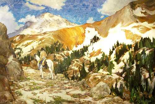 Mountains Painting - Timberline by Ed  Slack