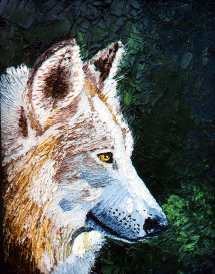 Timber Painting - Timberwolf by Stan Hamilton
