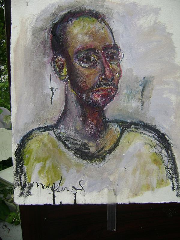 Self Portrait Painting - Time And Again by Noredin Morgan
