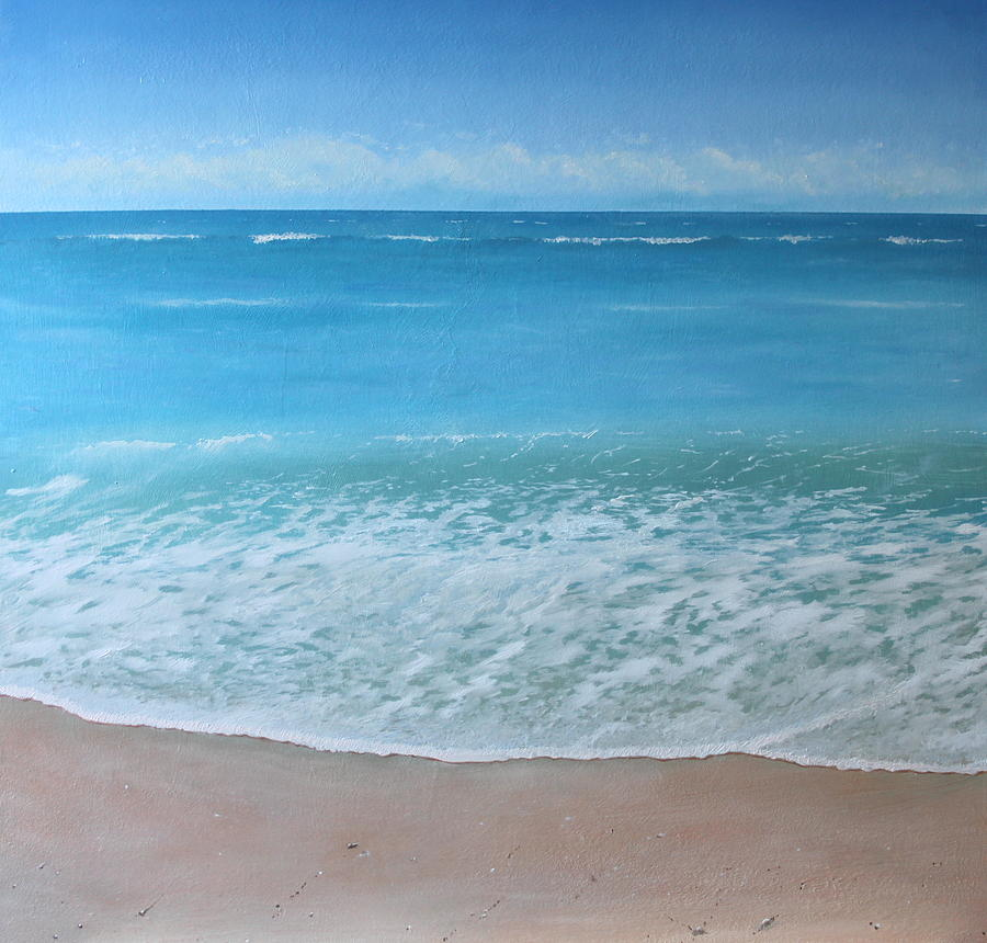 Sea Painting - Time And Tide by Paul Newcastle