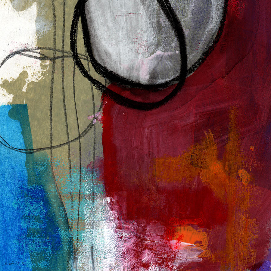 Red Painting - Time Between- Abstract Art by Linda Woods