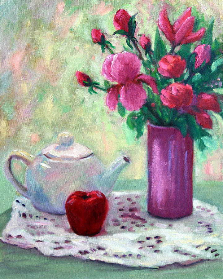 Still Life Painting - Time For Tea by Lucy Williams