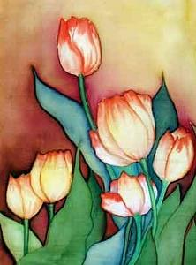 Silks Painting - Time For Tulips by Francine Dufour Jones