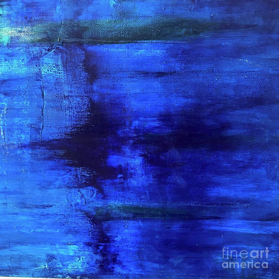 Abstract Painting - Time Frame by Kim Nelson