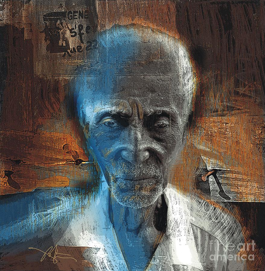African American Painting - Time Goes By by Bob Salo