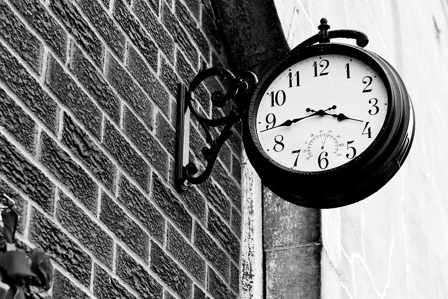 Time Photograph - Time In Black And White by Michelle Shockley
