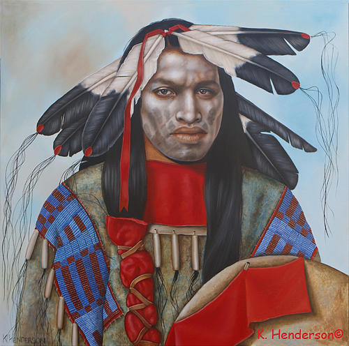 American Indian Painting - Time Is At Hand by K Henderson