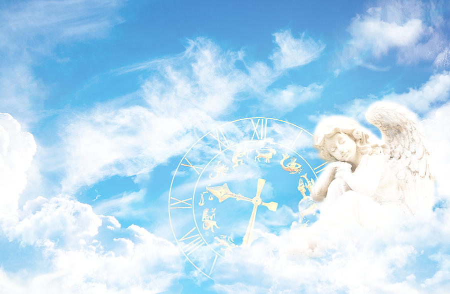 Fantasy Digital Art - Time is volatile - Zeit ist kostbar by LMoonlight